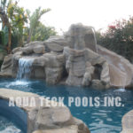artificial rock waterfalls for inground pools