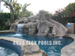 artificial rock waterfalls for inground pools